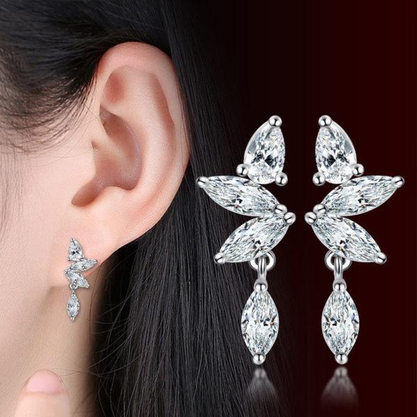 艾莎奇緣 3A級水晶耳環