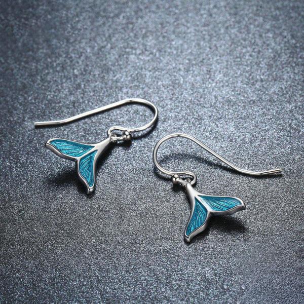 夢幻美人魚 925純銀搪瓷工藝耳環