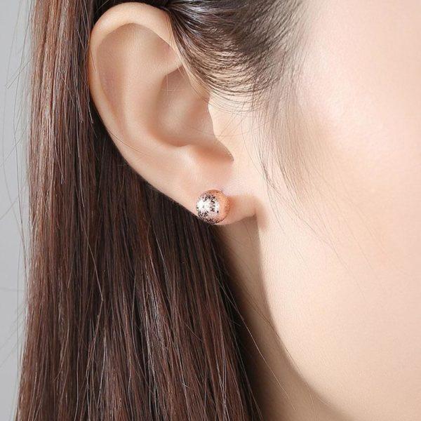 【絕版品】極簡風摩莎圓球耳環