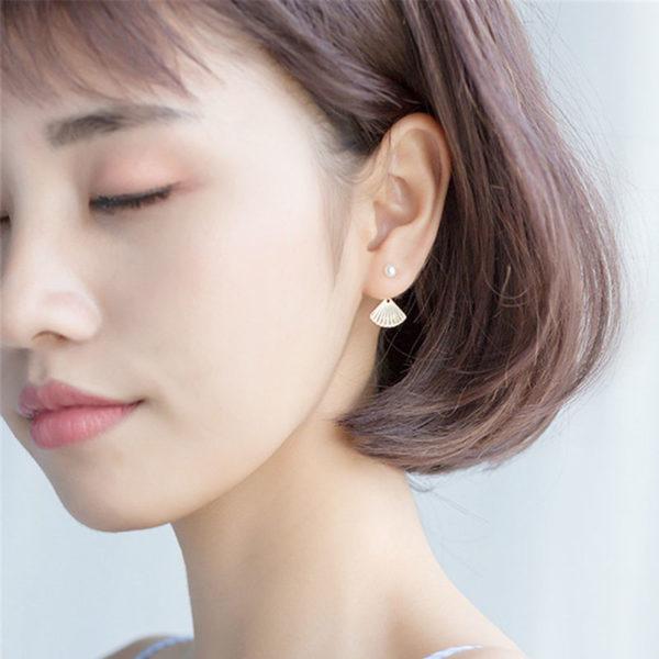 【絕版品】輕羅小扇 925純銀耳環