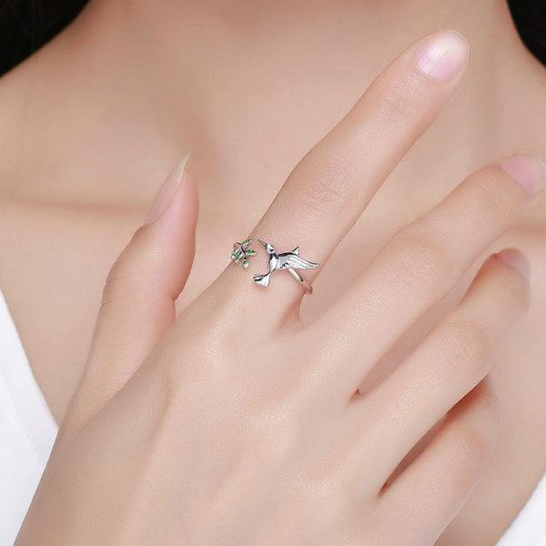 生生不息.蜂鳥 925純銀戒指