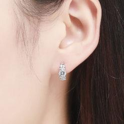 閃爍 3A級鋯石 925純銀耳環