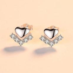 V Love 925純銀耳環