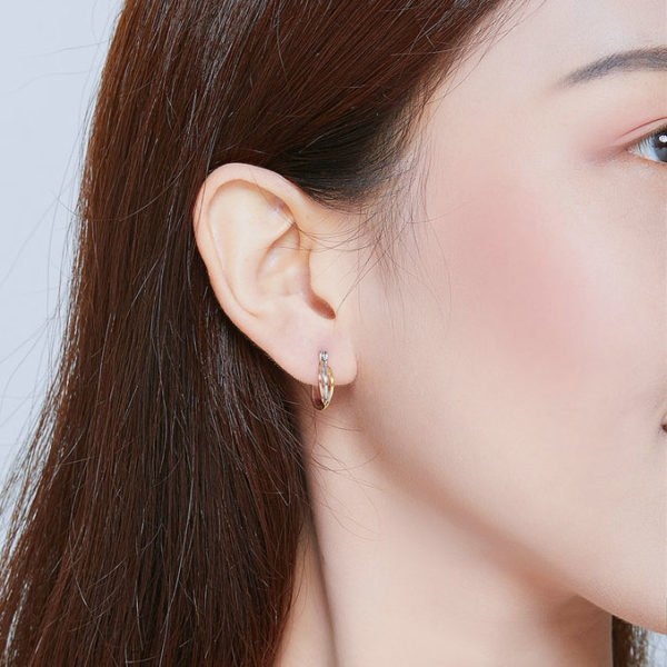 義大利風三色 925純銀耳環