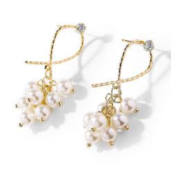 米娜擬珍珠耳環