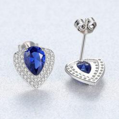 華麗風人造拓帕石 925純銀耳環