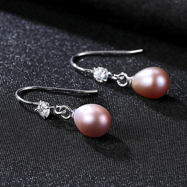 米蘭淡水真珍珠 925純銀耳環