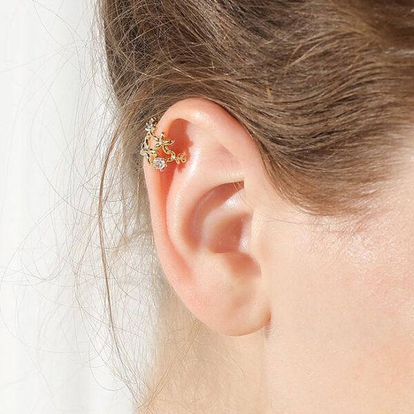 氣質花瓣耳骨夾(單只)