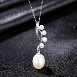 圓滿人生淡水真珍珠 925純銀項鍊