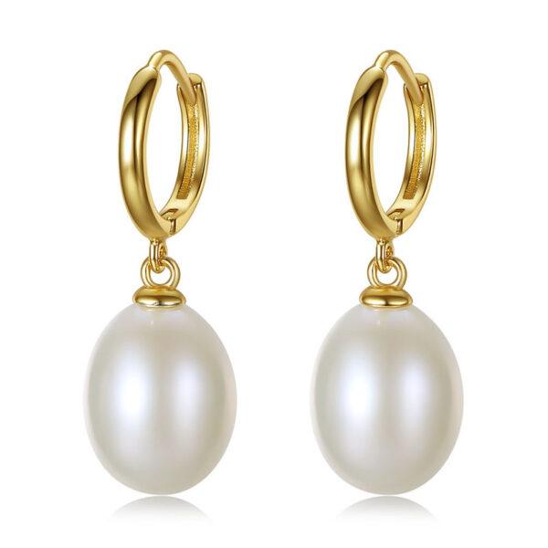 簡約典雅淡水真珍珠 925純銀耳環