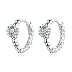 閃亮風北極星鋯石 925純銀耳環(尺寸小請注意)