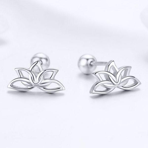 靜謐蓮花 925純銀耳環