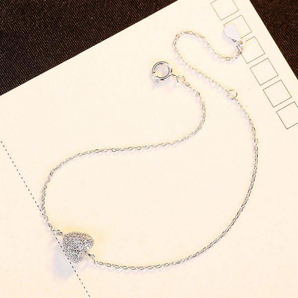 滿滿的愛 925純銀鋯石手鍊