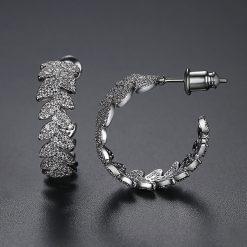 謬思女神鋯石耳環