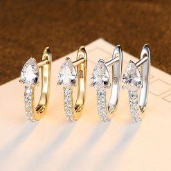 閃亮富裕人生 925純銀鋯石耳環